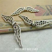 20pc Tibetan Silver Dangle Angel wings Spacer Charms Beads Jewellery KM039