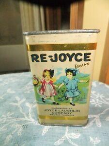 VINTAGE RE-JOYCE GINGER SPICE TIN PEORIA, IL. CHILDREN COLORFUL RARE TIN