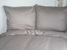 4 Pcs. Mako ropa de cama satinada Uni gris 135x200 cm Juego de cama gris claro