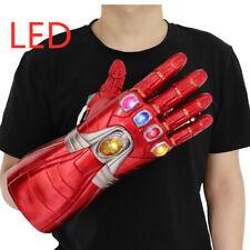 Avengers Endgame Thanos Iron Man Infinity Gauntlet LED Light Gloves Adult Kids