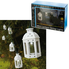 Solar String Lights 10 Mini Lanterns White LED Lantern Wedding Outdoor Decorativ