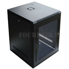 "15U Wall Mount It Server Network Cabinet Rack Enclosure Glass Door Lock 24"" Deep"