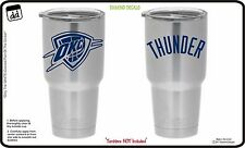Oklahoma City Thunder Fan Gear (Set of 2) Vinyl Decals for Yeti Tumblers RTIC