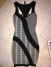 GUESS BY MARCIANO LOS ANGELES BLACK WHITE COCKTAIL DRESS WOMEN Sz XS Preowned