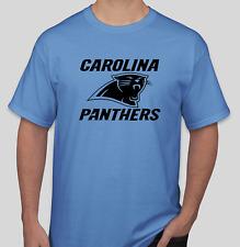 Carolina Panthers Blue T-Shirt black Graphics Cotton Adult Logo S-2XL