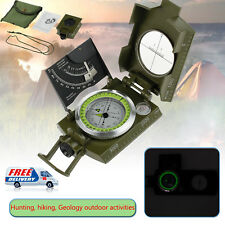 Pocket Military Geology Metal Sighting Compass Clinometer Outdoor Hiking Camping