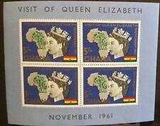 Ghana Royal Visit of Queen Elizabeth II 1961 Minisheet 5/- MNH