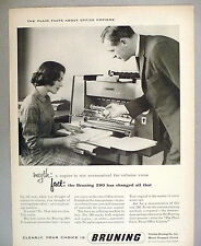 Bruning 280 Office Copier PRINT AD - 1962 ~~ copying machine