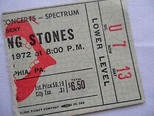 ROLLING STONES Original__1972__TICKET STUB  Exile Main Street Tour, Philadelphia