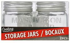 Tiny Mason Jars 2 Pk w/ Metal Lids Small Spice Storage Container Arts Crafts