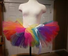 Adult rainbow tutu small Size  Handmade tulle skirt tutu USA colorful