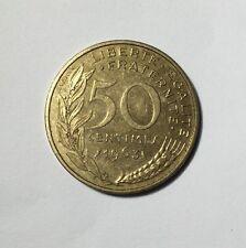 50 centimes LAGRIFFOUL 1963 col 3 plis Num14