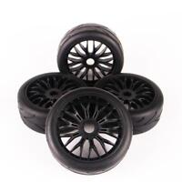 4PC 1/8 Scale RC Buggy Car Rubber Tread Tire Tyre & Y Spoke Wheel 17mm Hex