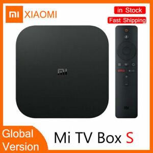 Xiaomi Mi Box S Android TV Box 4K Ultra Voice Search Remote WIFI Google Cast
