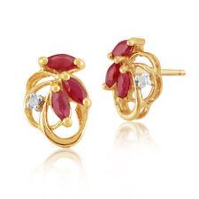 Butterfly Fastening Marquise Diamond Stud Fine Earrings