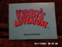 Kirby's Adventure (NES Nintendo) Instruction Manual Only.. NO GAME