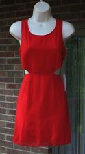 Tobi Tomato Red Short Cutout Sides Dress Back Zipper Lined Above Knee NWT Size M