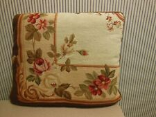 """Needlepoint and Petite Point Pillow 17 1/2"""" X 15"""""""
