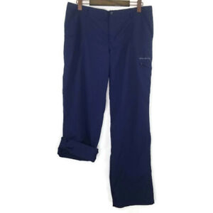 Columbia PFG Omni-Shade Womens Size 14 Regular Outdoors Navy Roll Up Pants