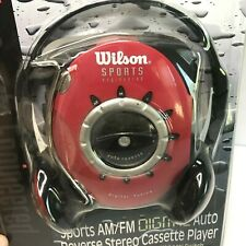 Wilson Sports Cassette Player Digital Auto Reverse Stereo Red Headphone New Wt30