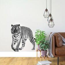 vr93 3d Wandtattoo Tiger Bild schwarz weiß afrika Wandtattoo Wohnzimmer Tiere 3d