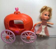 """3.5"""" Vintage Hasbro Storykins Cinderella With Pumpkin Carriage"""
