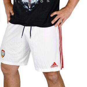 Adidas Men's Sports Shorts Training Trousers Bermuda Running Football White/Red