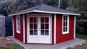 5-Eck Gartenhaus Blockhaus 4x4M 5-Eckige aus Holz, 40mm, Gerda EB40008oFL