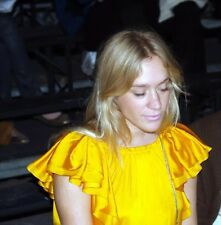 LANVIN Yellow Silk Eté 2008 Runaway Huge Sleeves Dress SZ 38 Ladies