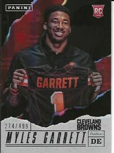 Myles Garrett Cleveland Browns 2017 Panini Fathers Day Rookie Football Card#/499