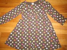GYMBOREE DRESS SIZE 5 YEARS LOTS OF DOTS WINTER BROWN SCHOOL CHURCH