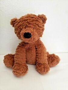 Jellycat Fuddlewuddle Brown Teddy Bear Plush Stuffed Animal Textured Fur