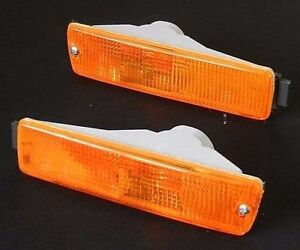 VW GOLF II MK2 1990-1992 BIG BUMPER FRONT INDICATOR LIGHT AMBER SET LEFT + RIGHT
