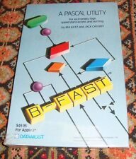 B-FAST - A Pascal Utility - DATAMOST - Apple II 2 - New & Sealed!