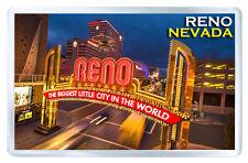 RENO NEVADA USA FRIDGE MAGNET SOUVENIR IMAN NEVERA