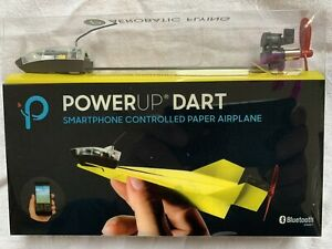 YELLOW POWERUP DART - App Controlled Paper Airplane - for Android & iOS IN BOX