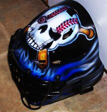 RAWLINGS ADULT BASEBALL CATCHERS HELMET AIRBRUSHED SKULL & BATS