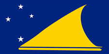 TOKELAU  FLAG 100MM BY 50 MM apr. GLOSS LAMINATED STICKER