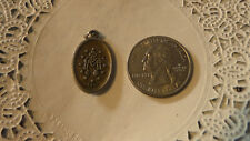 Vintage Religious antique sterling silver gold plate Medal -undefined metal #75