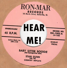 ROCKABILLY REPRO: STAN GUNN-Baby Sitter Boogie/JACK RIVERS-Call On Me RON-MAR