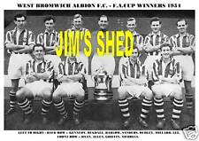 WEST BROMWICH ALBION F.C.TEAM PRINT 1954  FA.CUP WINNER