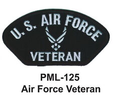 """brand new-, AIR FORCE  VETERAN Embroidered Military Large Patch, 4"""""""