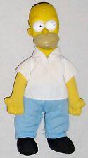 "Plush 11"" Homer Simpson Boy Doll wearing White Shirt and Blue Pants"