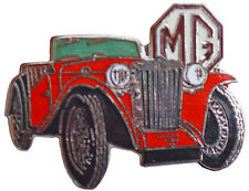 MG TC car cut out lapel pin - Red