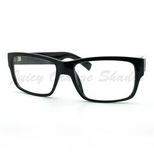 Mens Fashion Eyeglasses Classic Black Rectangular Clear Lens Frame