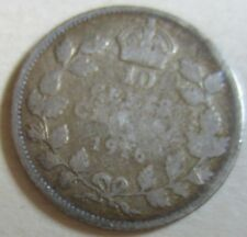 1916 Canada Silver Ten Cents Coin (KEY DATE Dime T422)