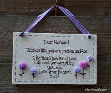 Teachers like you Thank you gift-Nursery-Personalised Handmade Wooden Plaque