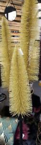 Set 2 Alberi Oro Glitter H 150 cm con 30 Led/ H 120 cm con 25 Led