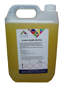 Azure Floor Cleaner Neutral Chemical Ideal for Daily Mopping Floors - 5L