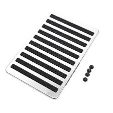 Universal Cars Floor Carpet Mat Patch Foot Heel Plate Pedal Pads Stainless Steel